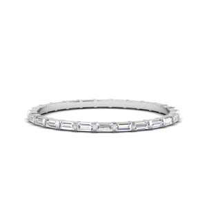 Baguette Diamond Thin Band