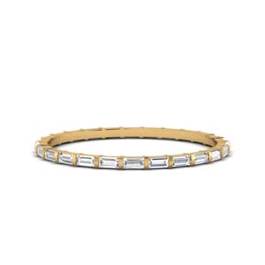 Thin Baguette Bar Eternity Band