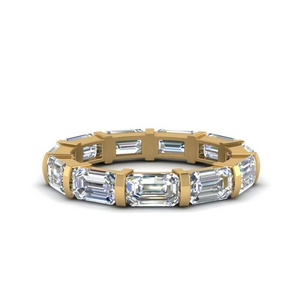Emerald Cut Bar Eternity Ring