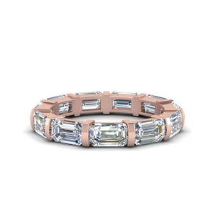 Emerald Cut Bar Diamond Band 3.25 Karat