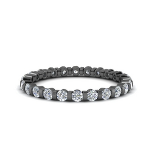 Beautiful Bar Diamond Black Gold Band