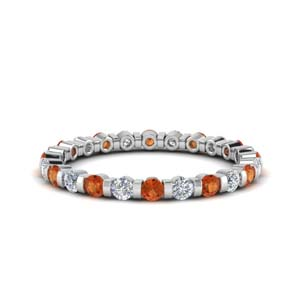 0.75 Ct. Orange Sapphire Band