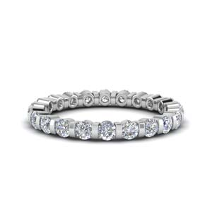 1 Carat Diamond Single Row Eternity Ring