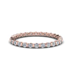 Round Diamond Bar Set Eternity Band