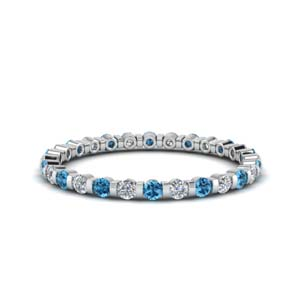 Platinum Eternity Band With Topaz