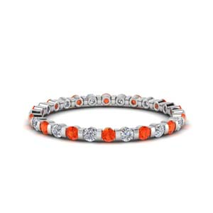 White Gold Orange Topaz 0.50 Ct. Band