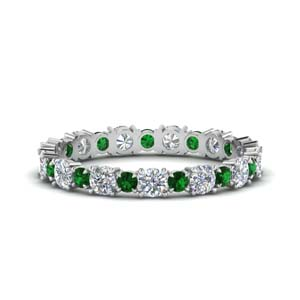 1 Carat Emerald Eternity Band