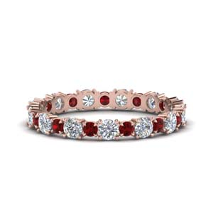 Ruby Eternity Band 1 Karat