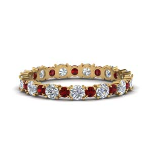 Ruby Eternity Band 1 Carat