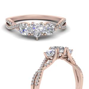 Heart Shaped Infinity Diamond Ring