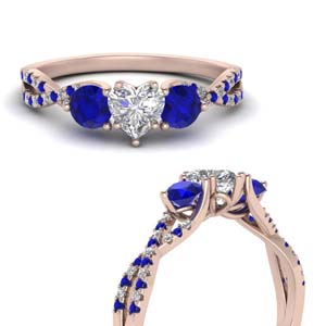 Accent Sapphire Twist Ring