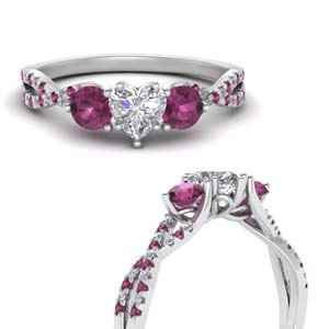 Pink Sapphire Twisted Trellis Ring