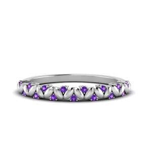 Purple Topaz Antique Band