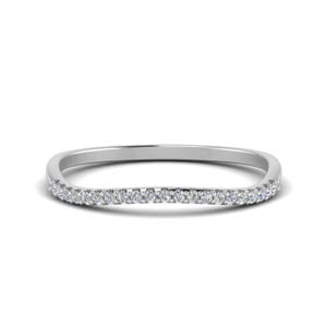 White Gold Curve Diamond Band