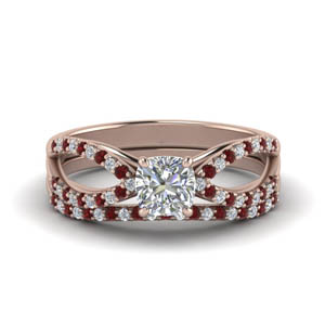 Ruby Split Wedding Set