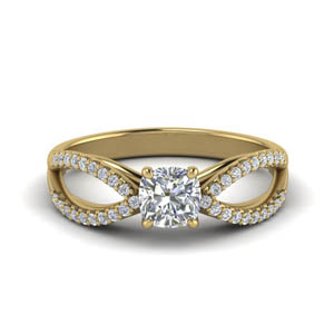 Cushion Split Shank Ring