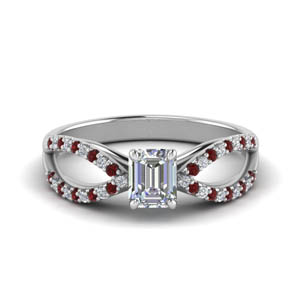 Side Stone Ring With Ruby
