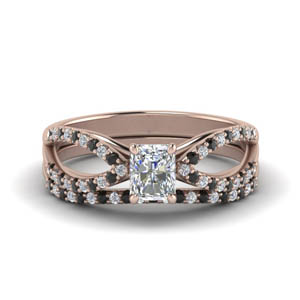 Split Shank Wedding Ring Set