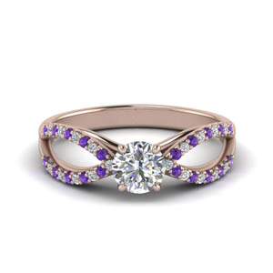 Double Shank Purple Topaz Ring