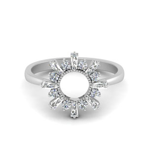 Baguette Diamond Sunrays Ring