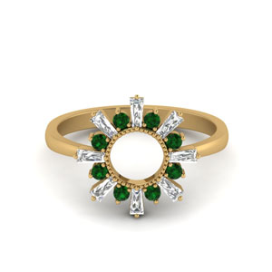 Emerald Circle Promise Ring