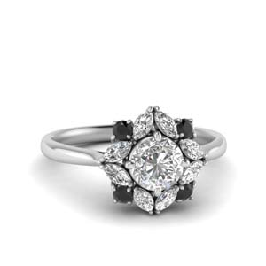 Halo Art Deco Engagement Ring