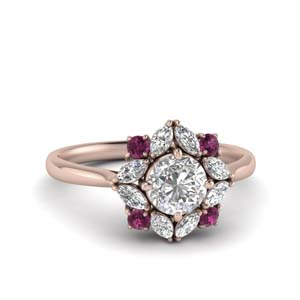 art-deco-halo-diamond-engagement-ring-with-pink-sapphire-in-FD123772RORGSADRPI-NL-RG