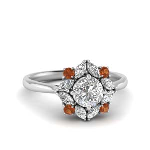 Art Deco Halo Ring For Women
