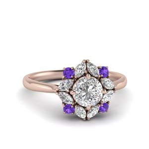 Art Deco Purple Topaz Ring