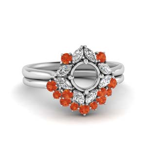 Semi Mount Art Deco Ring Set