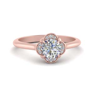 Delicate Halo Diamond Ring