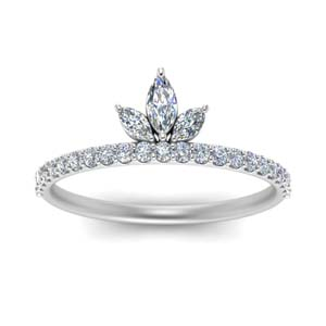 Marquise Crown Set Ring For Her