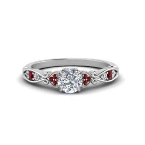 Platinum Ruby Pave Diamond Ring