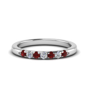 Thin Ruby Band For Her