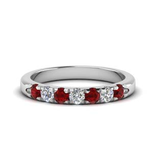 Platinum Ruby Bands For Women