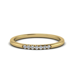 Thin Diamond Wedding Band