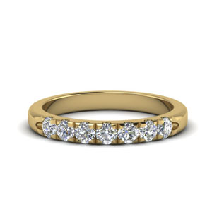 Half Carat 7 Stone Wedding Band