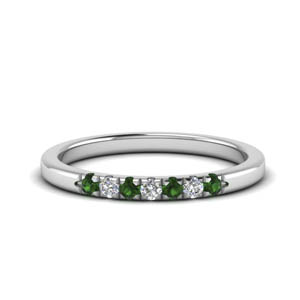 Emerald 0.15 Karat Wedding Band
