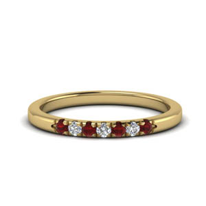 Ruby With Gold Band
