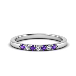 Purple Topaz Women Wedding Band