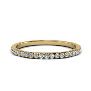 0.25 Ct. Gold Womens Band