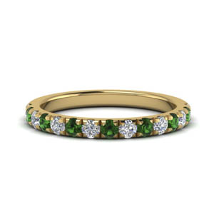 Emerald 0.50 Ct. French Pave Band