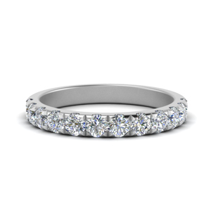 0.75 Ct. Platinum Diamond Band