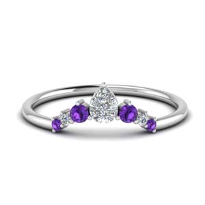 Pear Diamond Womens Band