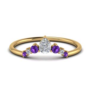 Curved Purple Topaz Band