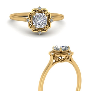 Floral Style Engagement Rings