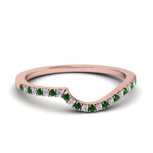 Round Emerald Pave Band