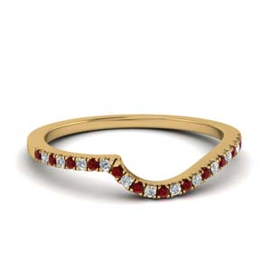Contour Delicate Ruby Band