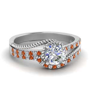 Platinum Ring With Matching Band