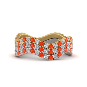 Orange Topaz Stackable Rings